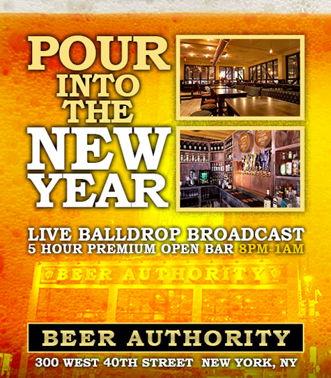 Beer Authority New Years Eve