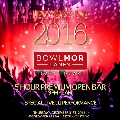 Bowlmor Lanes New Years Eve