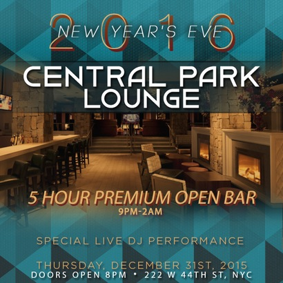 Central Park Lounge New Years Eve