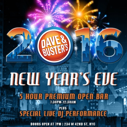 Dave and Buster's New Years Eve