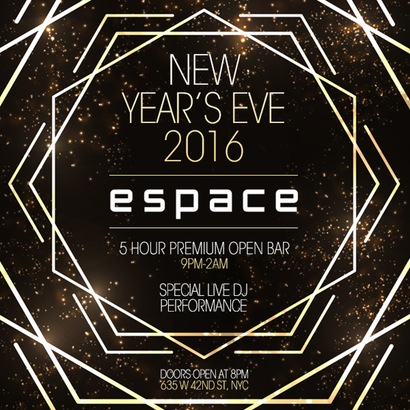Espace New Years Eve