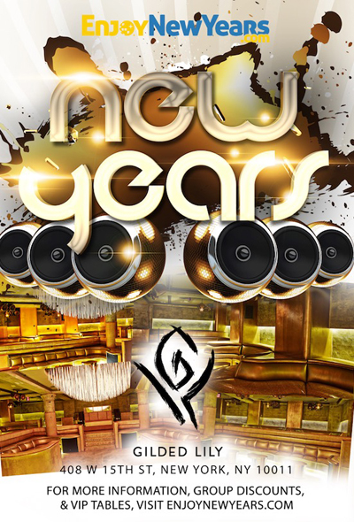 Gilded Lily New Years Eve