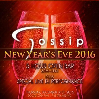 Gossip Bar New Years Eve