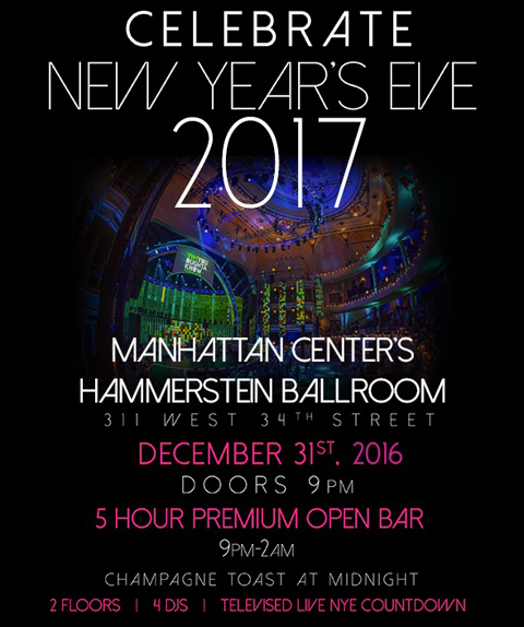 Hammerstein Ballroom New Years Eve