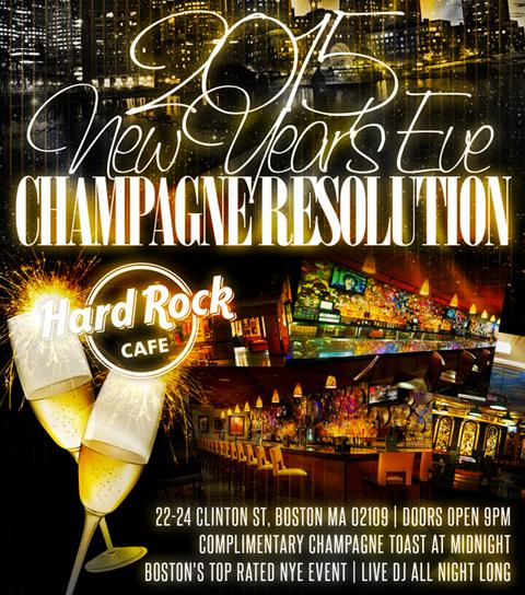 Hard Rock Cafe New Year's Boston - Hard Rock Cafe Boston NYE
