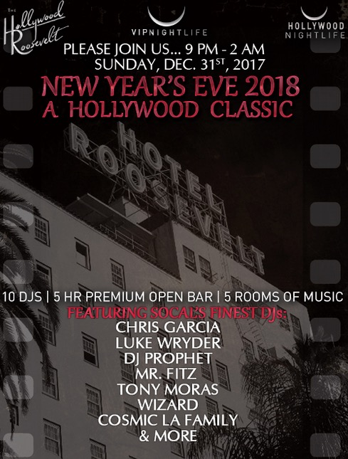 Hollywood Roosevelt Hotel New Years Eve