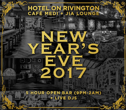 Hotel on Rivington New Years Eve