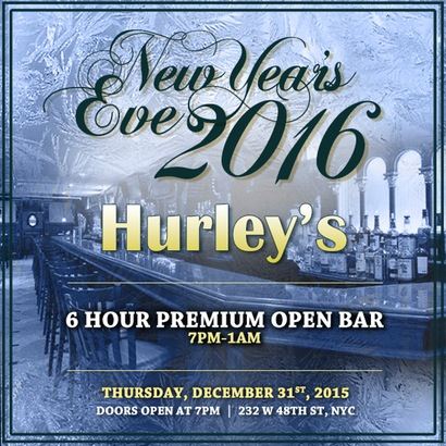 Hurley's Saloon New Years Eve