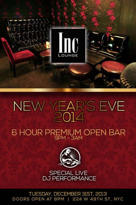 Inc Lounge New Years Eve