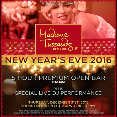 Madame Tussauds New Years Eve