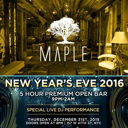 Maple New Years Eve