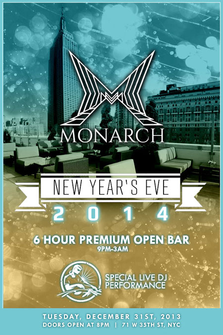 Monarch Rooftop Lounge New Years Eve