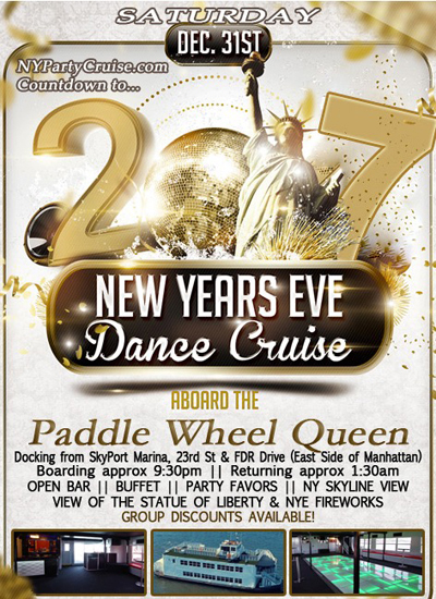 Paddle Wheel Queen New Years Eve