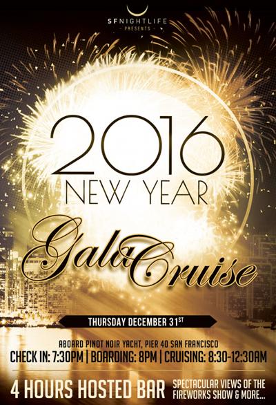 Pinot Noir Yacht New Years Eve