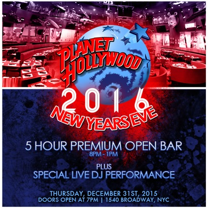 Planet Hollywood New Years Eve