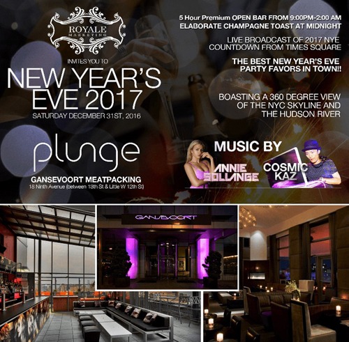 Plunge Bar & Lounge New Years Eve