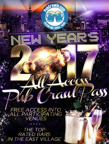 All Access Pub Crawl Pass New Years Eve