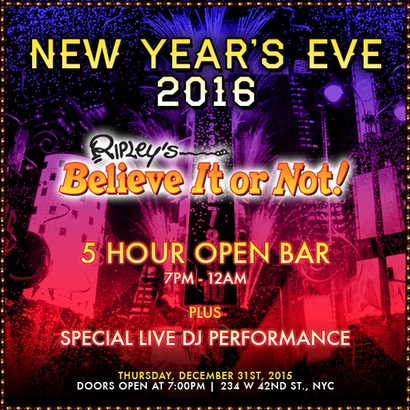 Ripley's Believe It or Not New Years Eve