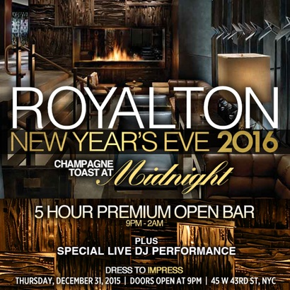 Royalton Hotel New Years Eve