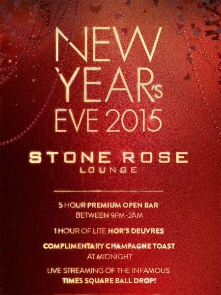 Stone Rose New Years Eve