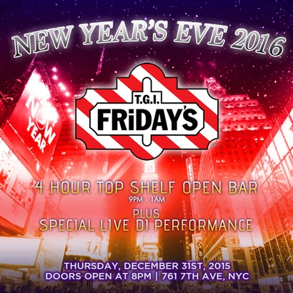TGI Friday's New Years Eve