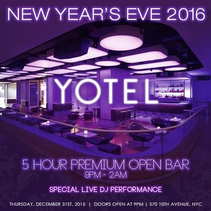 Yotel Hotel New Years Eve